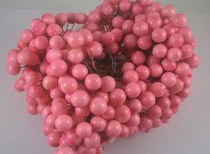 Ягоды 10 мм (длина 16см), цвет - светло-розовый. 1 уп = 400 ягодок