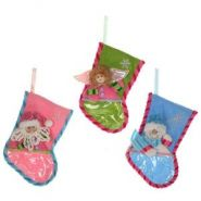545321 Носок для подарков, 3в., 24см / текстильные материалы, ПВХ