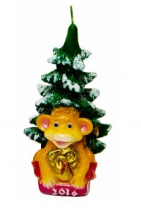 "Свеча ""Новогодняя обезьяна""."