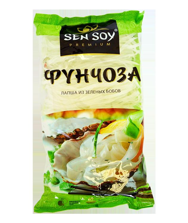 СЭН-СОЙ Вермишель Фунчоза из зеленых бобов 180 г (ЛАПША)