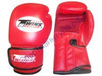 Боксерские перчатки TWINS PD476A красные, кожа