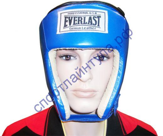 Шлем боксерский EVERLAST FF019В боевой, кожа