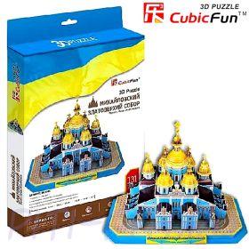 CubicFun. 3D пазлы. Соборы и храмы. Михайловский Златоверхий собор