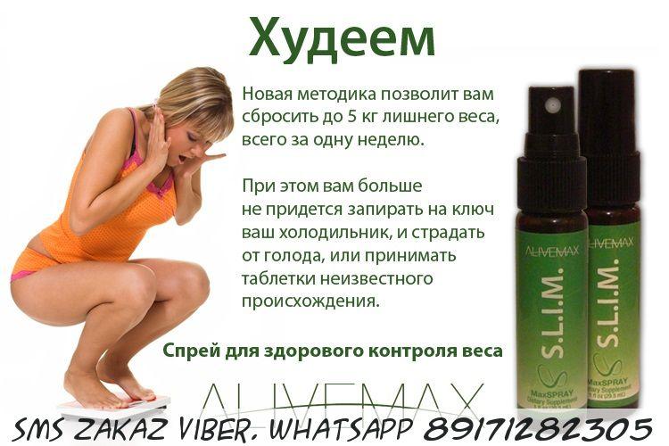 Витаспрей SLIM Alivemax контроль над весом