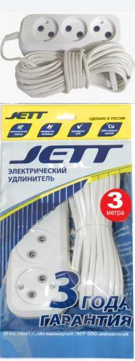 Сетевой удлинитель ДЖЕТТ РС-3 ( провод ШВВП ) 3 м (60)