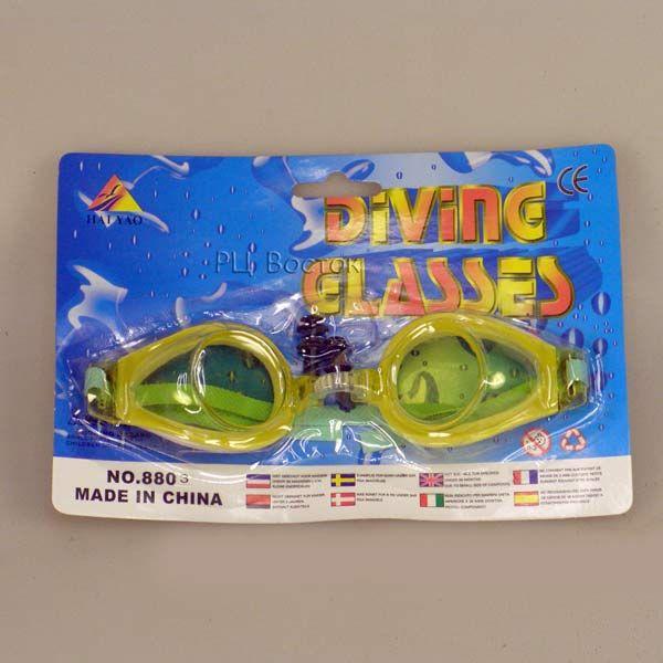очки для плавания дет.