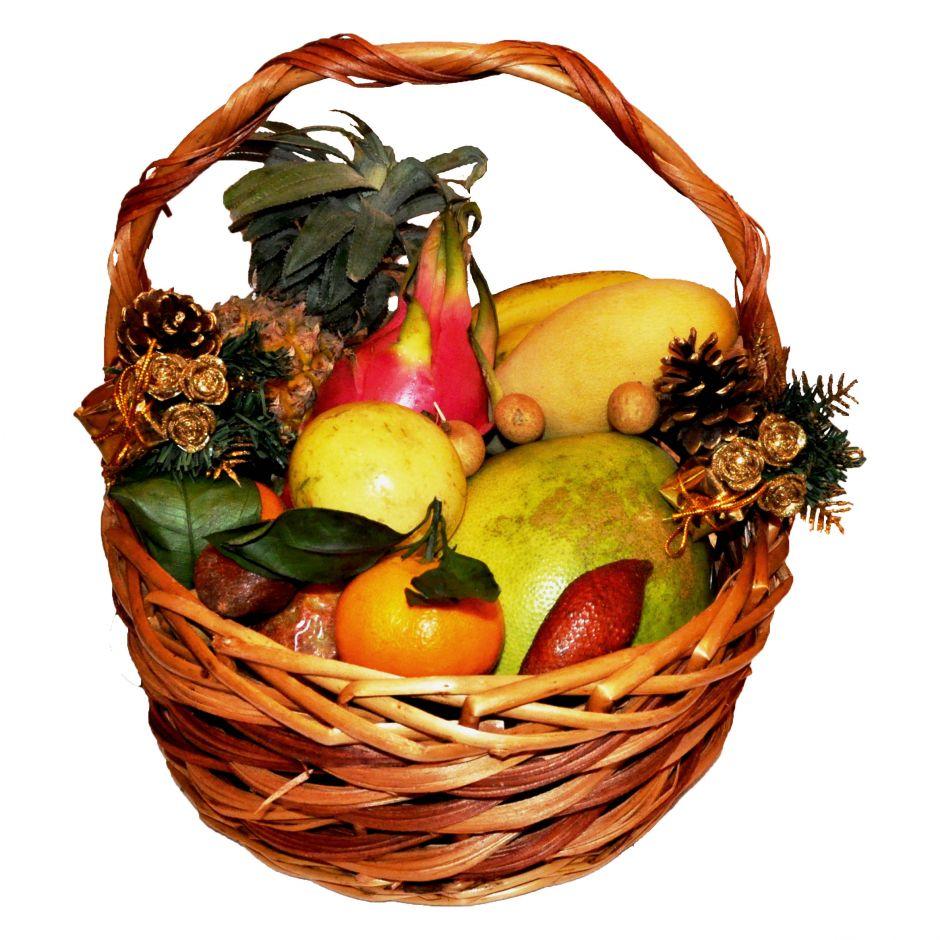 Корзина с фруктами Новогодний бум