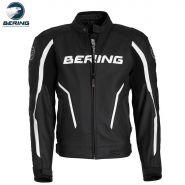 Мотокуртка кожаная Bering Gear, черный/белый