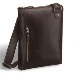 Кожаная сумка через плечо BRIALDI Gaeta (Гаета) brown
