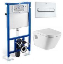 Система инсталляции Roca PRO WC 89009000 в комплекте с подвесным унитазом Roca Gap 346477000 с сиденьем Soft Close (микролифт)