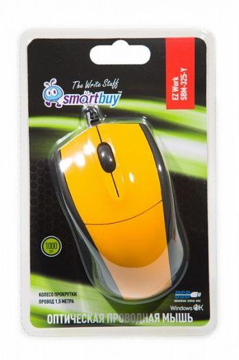 Мышь проводная Smartbuy 325-Y (желтая)