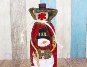 Мешочек подарочный Снеговик