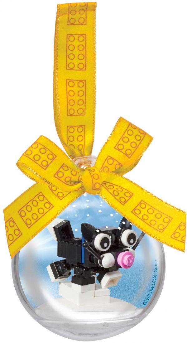 Ёлочная игрушка Котёнок в шаре. Конструктор ЛЕГО 850950