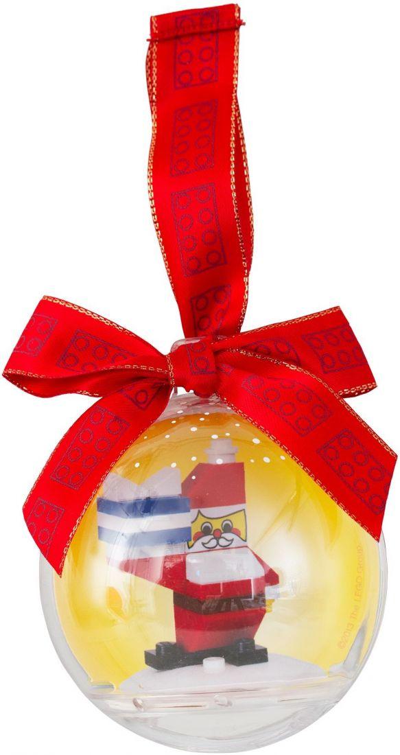 Ёлочная игрушка Санта-Клаус в шаре. Конструктор ЛЕГО 850850