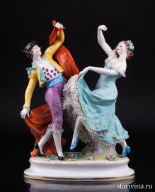 Испанский танец, кружевная, Volkstedt, Германия, до 1935 г., артикул 02134