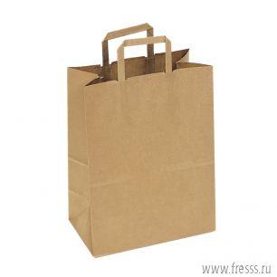 Пакет крафт без печати 22 х 32 х 9 см