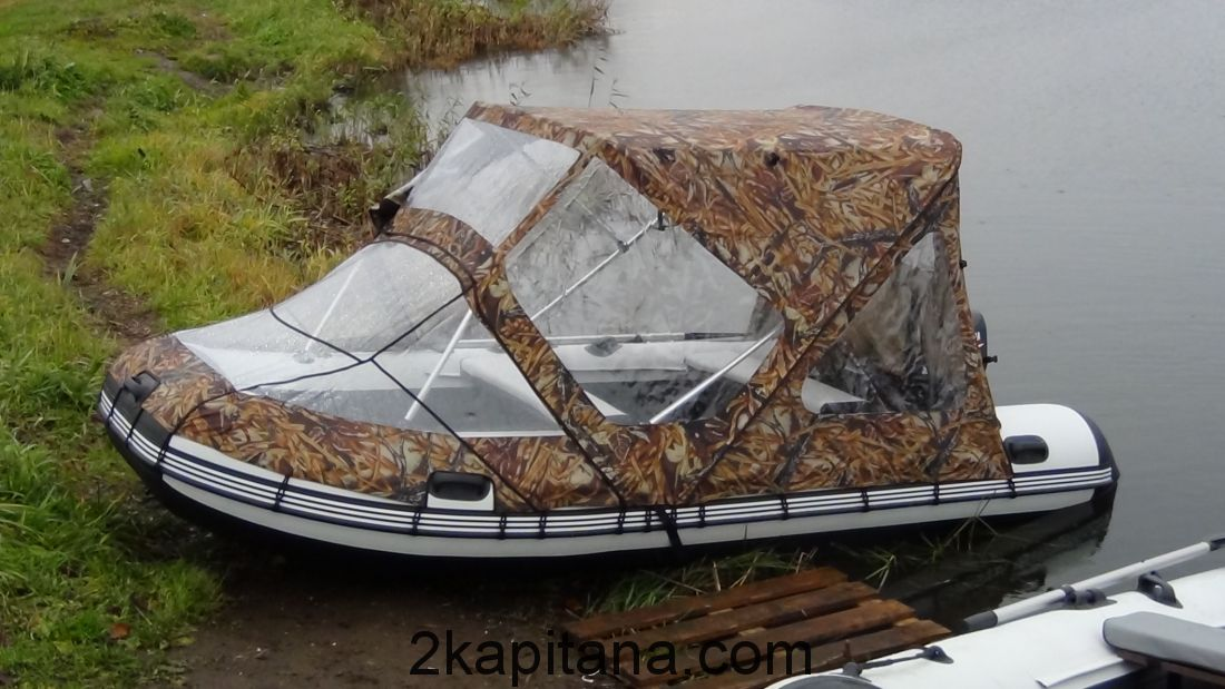 Тент Комбинированный для лодок ПВХ 380-400 (Ходовой + носовой)