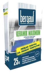 Клей для керамической плитки с макс.свойствами Keramik Max 25 кг Bergauf 1уп=56ш