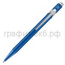 Ручка шариковая Caran d'Ache Office Popline Metal-X синий М 849.640
