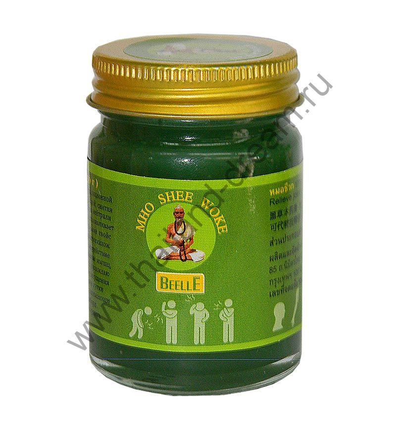 Тайский зеленый бальзам Mho Shee Woke, 50 гр