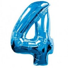 """Фигура """"4""""  (40""""/102 см) синий"""