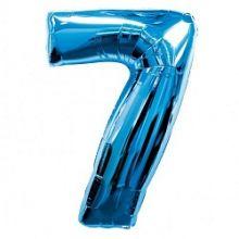 """Фигура """"7""""  (40""""/102 см) синий"""