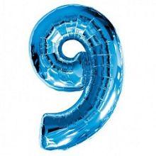 """Фигура """"9""""  (40""""/102 см) синий"""