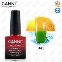 Термогель-лак Canni #341 (зеленый - оранжевый) 7.3 ml