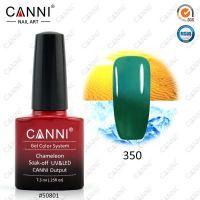 Термогель-лак Canni #350 (зеленый - изумрудный) 7.3 ml
