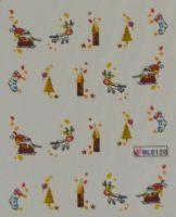 """Водная наклейка для дизайна ногтей """"Новый Год"""" BLE 120"""