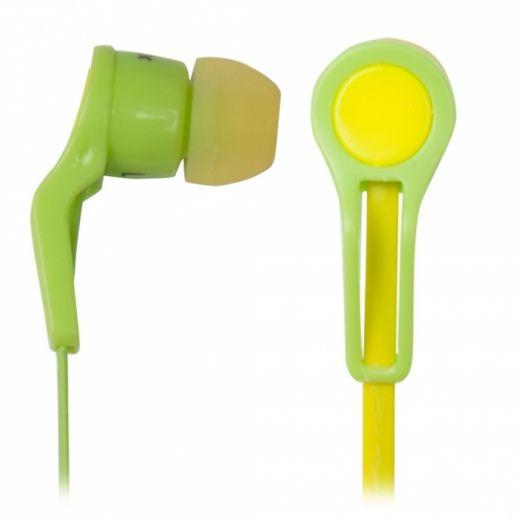 Наушники вакуумные Ritmix rh-014 green+yellow вкладыши