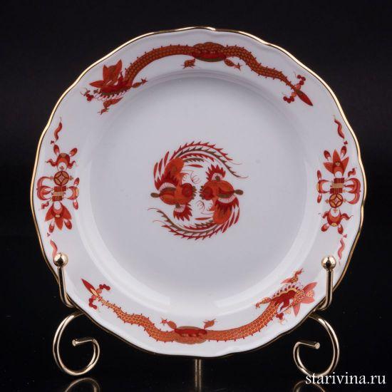 Тарелка Красный Дракон, Meissen, Германия, вт. пол. 20 в.