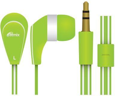 Наушники вакуумные Ritmix rh-181 green