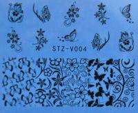 Наклейка водная для дизайна ногтей V004