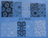 Наклейка водная для дизайна ногтей V010