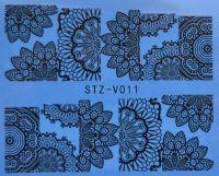 Наклейка водная для дизайна ногтей V011