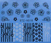Наклейка водная для дизайна ногтей V018