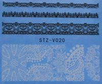 Наклейка водная для дизайна ногтей V020