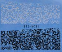 Наклейка водная для дизайна ногтей V025