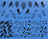Наклейка водная для дизайна ногтей V028