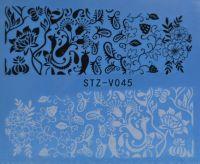 Наклейка водная для дизайна ногтей V045