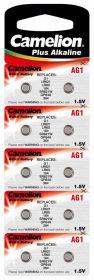 Camelion alkaline AG 1 (LR621) BL-10/200/ цена за 1 шт
