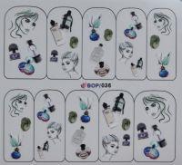 Наклейка водная серия BOP #036