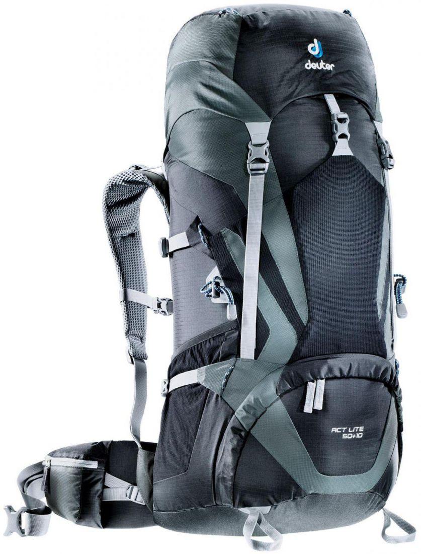Deuter Aircontact Lite ACT Lite 50L + 10L black-granite многофункциональный рюкзак
