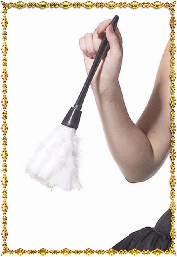 Метелка из пера для костюма Французской горничной