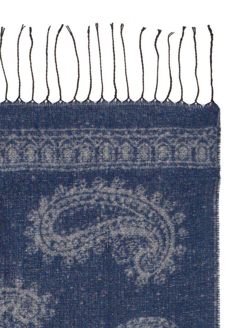 Платок женский на плечи цвет синий