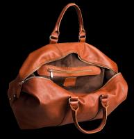 HADLEY REDWOOD коньячно-рыжая кожаная дорожная сумка