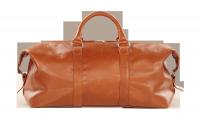 HADLEY RASTWOOD рыжая кожаная дорожная сумка