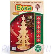 Wooden Toys. Сборная деревянная модель Новогодняя елка