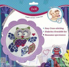 """D&M Делай с мамой. Набор для вышивания крестиком """"Совенок"""""""